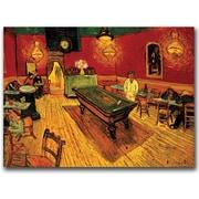 "Trademark Global Vincent van Gogh ""The Night Cafe"" Canvas Art, 14"" x 19"""