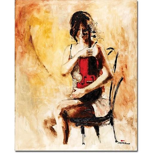 "Trademark Global Joarez ""Divine Melody"" Canvas Art, 19"" x 14"""