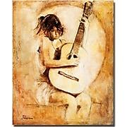 "Trademark Global Joarez ""Soft Guitar"" Canvas Art, 24"" x 18"""