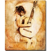 "Trademark Global Joarez ""Soft Guitar"" Canvas Arts"
