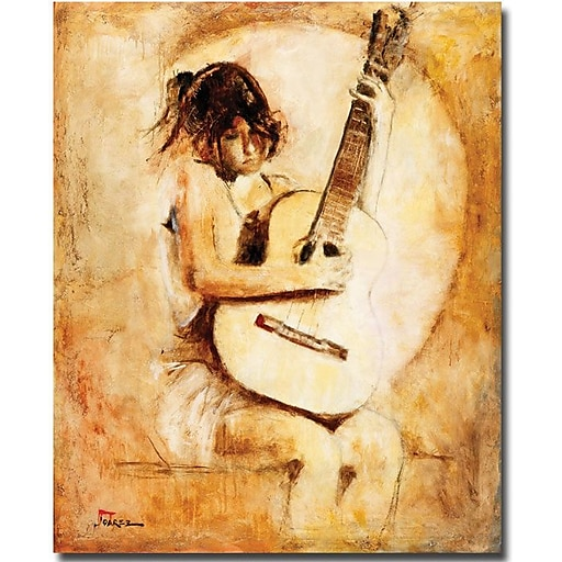 "Trademark Global Joarez ""Soft Guitar"" Canvas Art, 47"" x 35"""