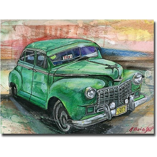 "Trademark Global Alberto ""Havana Vintage Car"" Canvas Art, 35"" x 47"""