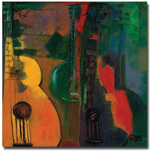 "Trademark Global Boyer ""Guitars"" Canvas Art, 24"" x 24"""