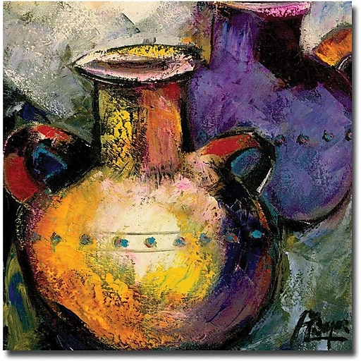 "Trademark Global Boyer ""Still Life with Jugs II"" Canvas Art, 24"" x 24"""