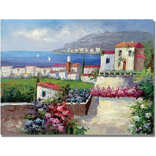 "Trademark Global ""Mediterranean Blue"" Canvas Art, 18"" x 24"""