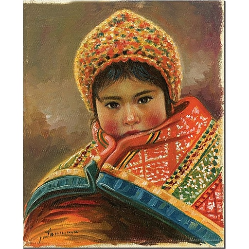"Trademark Global Jimenez ""Mirada Inocente"" Canvas Art, 24"" x 18"""