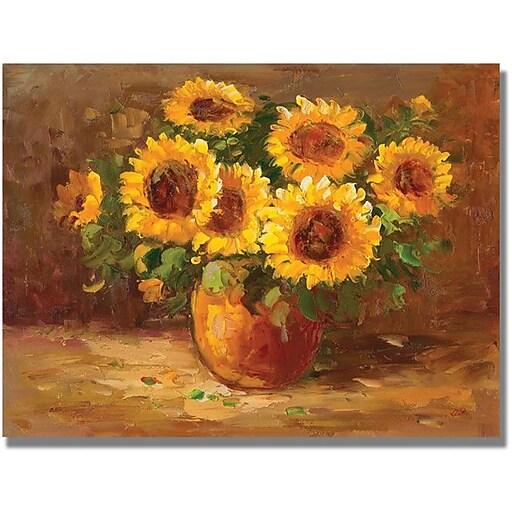 """Trademark Global """"Sunflowers Still Life"""" Canvas Art, 24"""" x 32"""""""