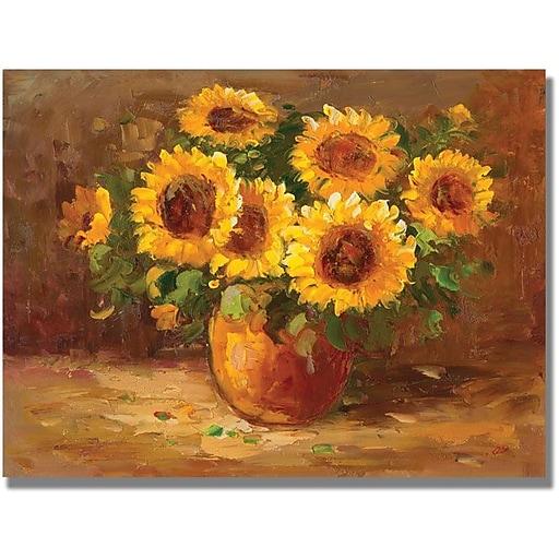 """Trademark Global """"Sunflowers Still Life"""" Canvas Art, 35"""" x 47"""""""