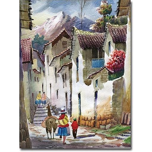 "Trademark Global Jimenez ""Cuzco I"" Canvas Art, 19"" x 14"""