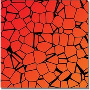 "Trademark Global ""Crystals of Reds and Orange"" Canvas Art, 35"" x 35"""