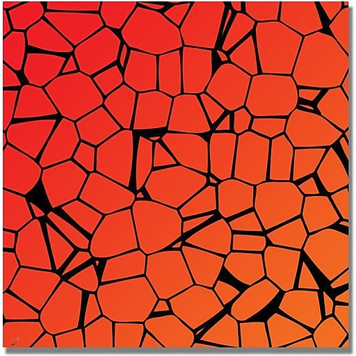 """Trademark Global """"Crystals of Reds and Orange"""" Canvas Art, 35"""" x 35"""""""