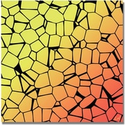"Trademark Global ""Crystals of Yellow and Orange"" Canvas Art, 18"" x 18"""