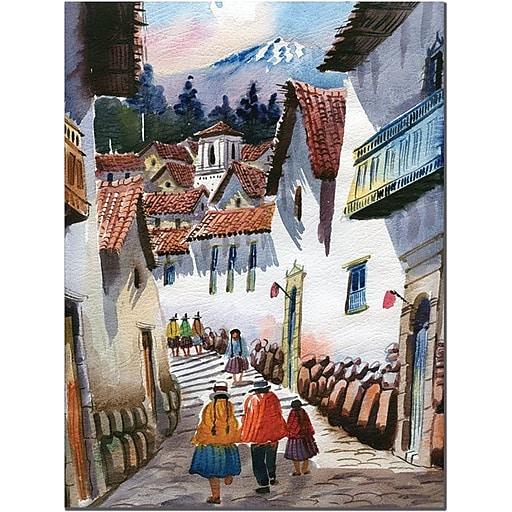 """Trademark Global Jimenez """"Cuzco IV"""" Canvas Art, 32"""" x 24"""""""