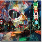 "Trademark Global ""On Broadway"" Canvas Art, 18"" x 18"""