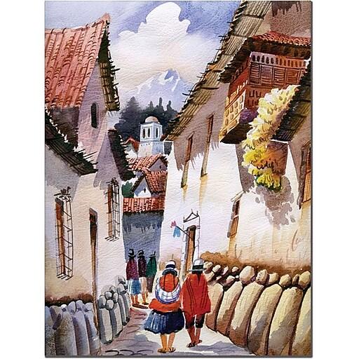 "Trademark Global Jimenez ""Cuzco II"" Canvas Art, 32"" x 24"""