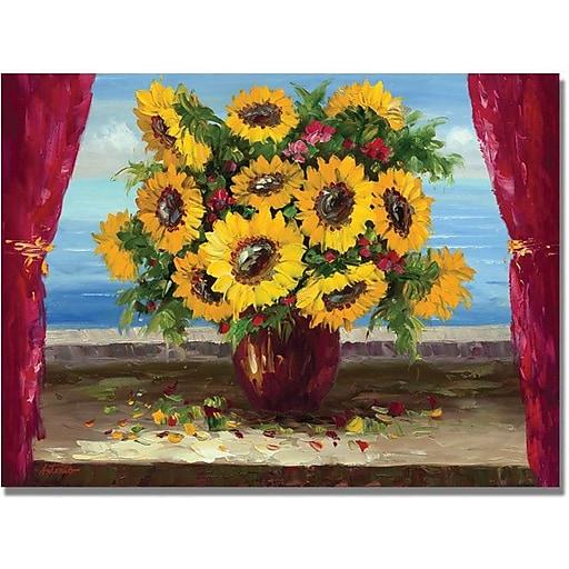 "Trademark Global Antonio ""Sunflowers by the Window"" Canvas Art, 35"" x 47"""
