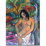 "Trademark Global Manor Shadian ""Bath"" Canvas Art, 47"" x 30"""