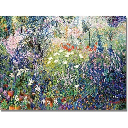 "Trademark Global Manor Shadian ""Garden in Maui"" Canvas Art, 30"" x 47"""