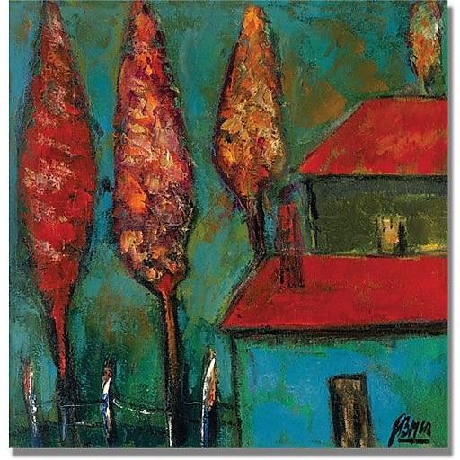 "Trademark Global Boyer ""Crimson Night"" Canvas Art, 24"" x 24"""