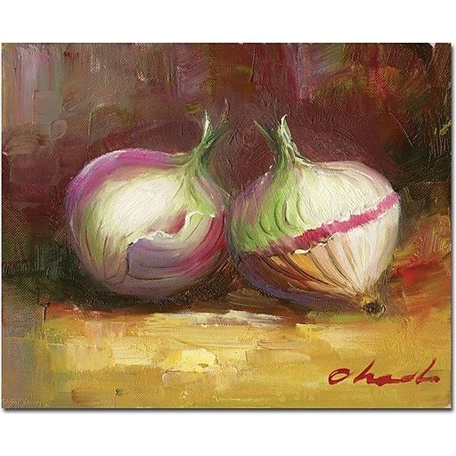 "Trademark Global ""Onion Still Life"" Canvas Art, 18"" x 24"""