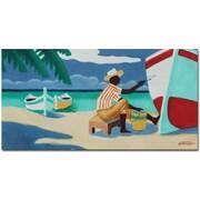 "Trademark Global Antonio ""Antigua"" Canvas Art, 24"" x 47"""