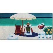 "Trademark Global Antonio ""Caribbean Peacefulness"" Canvas Art, 24"" x 47"""