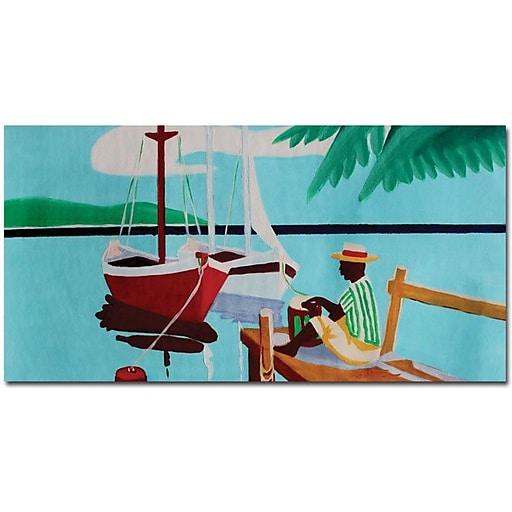 "Trademark Global Antonio ""Sunday"" Canvas Art, 24"" x 47"""