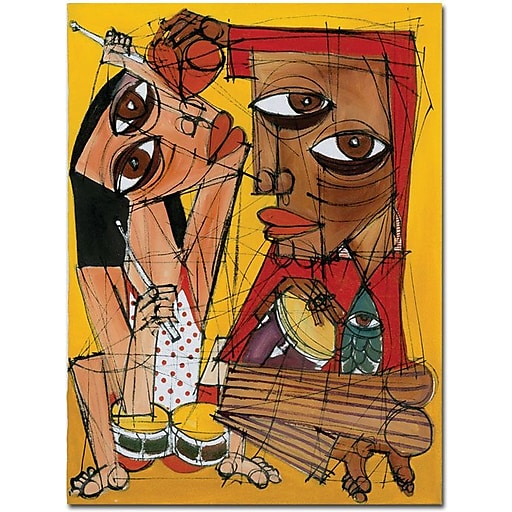"Trademark Global Dieguez ""Tocame el Corazon"" Canvas Art, 32"" x 24"""