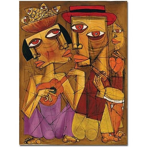 """Trademark Global Dieguez """"Golden Times"""" Canvas Art, 32"""" x 24"""""""