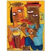 "Trademark Global Dieguez ""Besame"" Canvas Art, 32"" x 24"""