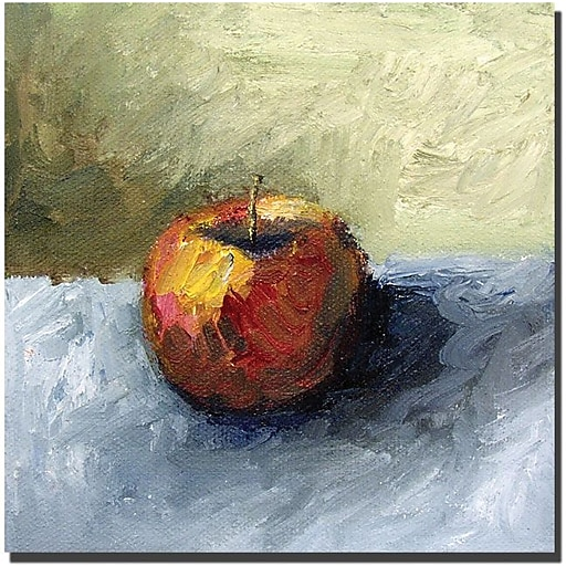 """Trademark Global Michelle Calkins """"Apple Still Life with Grey and Olive"""" Canvas Art, 35"""" x 35"""""""