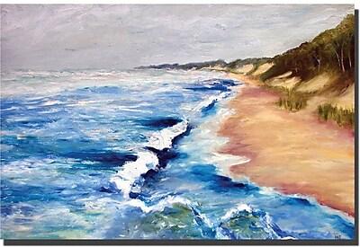 Trademark Fine Art Lake Michigan Beach with Whitecaps I Michelle Calkins