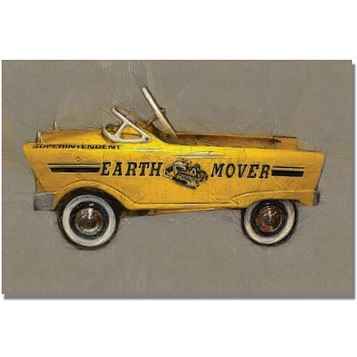 "Trademark Global Michelle Calkins ""Earth Mover Pedal Car"" Canvas Art, 35"" x 47"""