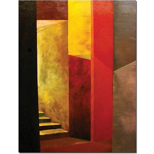 "Trademark Global Michelle Calkins ""Mystery Stairwell"" Canvas Art, 32"" x 24"""