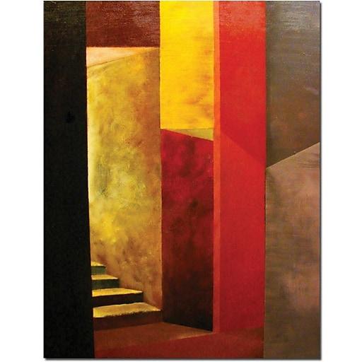 "Trademark Global Michelle Calkins ""Mystery Stairwell"" Canvas Art, 47"" x 35"""