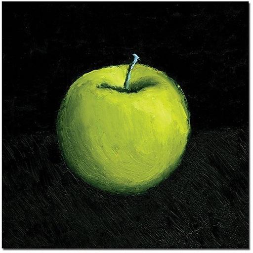"Trademark Global Michelle Calkins ""Green Apple Still Life"" Canvas Art, 35"" x 35"""