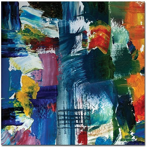 "Trademark Global Michelle Calkins ""Color Relationships II"" Canvas Art, 24"" x 24"""