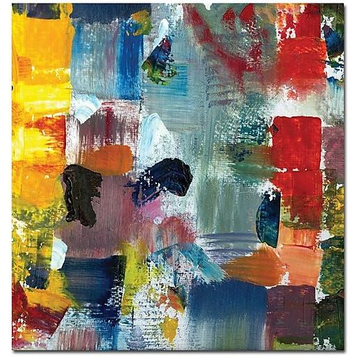 "Trademark Global Michelle Calkins ""Color Relationships III"" Canvas Art, 24"" x 24"""