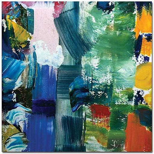 "Trademark Global Michelle Calkins ""Color Relationships IV"" Canvas Art, 18"" x 18"""