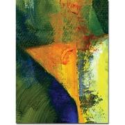 "Trademark Global Michelle Calkins ""Orange and Blue Color Study"" Canvas Art, 24"" x 18"""