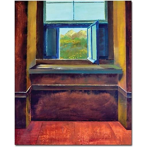 "Trademark Global Michelle Calkins ""The Open Window"" Canvas Art, 32"" x 26"""