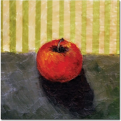 "Trademark Global Michelle Calkins ""Red Apple Still Life"" Canvas Art, 35"" x 35"""