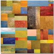 "Trademark Global Michelle Calkins ""Pieces Project III"" Canvas Art, 35"" x 35"""