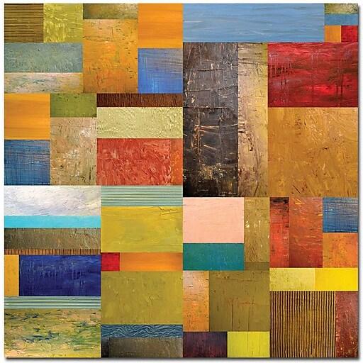 "Trademark Global Michelle Calkins ""Pieces Project III"" Canvas Art, 35"" x 35"""