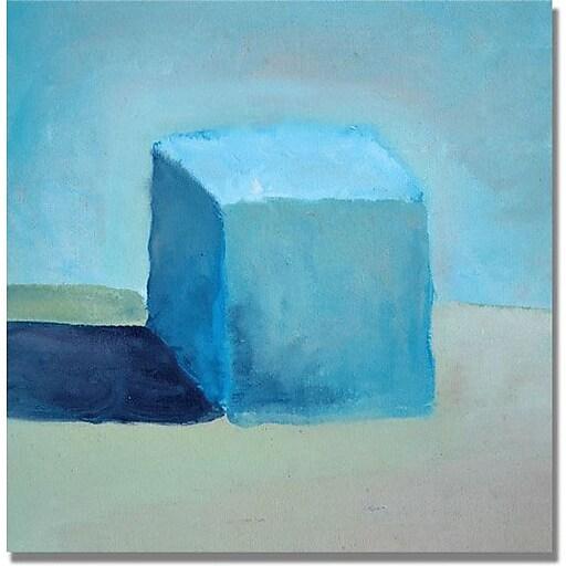 "Trademark Global Michelle Calkins ""Blue Cube Still Life"" Canvas Art, 18"" x 18"""