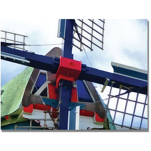 "Trademark Global Michelle Calkins ""Dutch Windmill"" Canvas Art, 18"" x 24"""