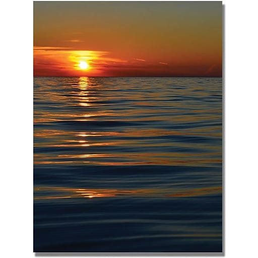 "Trademark Global Michelle Calkins ""Sunset over the Lake"" Canvas Art, 47"" x 30"""