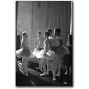 "Trademark Global Miguel Paredes ""Chatting Dancers"" Canvas Art, 24"" x 16"""