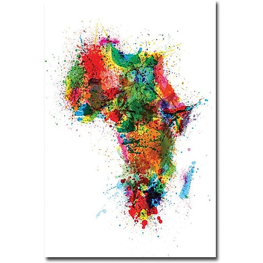 "Trademark Global Michael Tompsett ""Africa - Paint Splashes"" Canvas Art, 47"" x 30"""