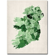 "Trademark Global Michael Tompsett ""Ireland Watercolor"" Canvas Arts"